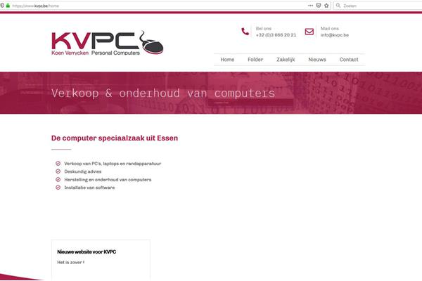 Nieuwe website voor KVPC - Rent@Tech Essen
